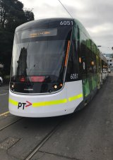The new E-Class tram.