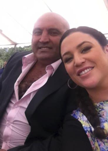 Joe Antoun with his wife Teagan.