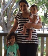 Rajpinder Gill and her two chioldren Jorawar and Sukhmani