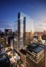 AMP Capital and UniSuper have bought a 49.5 pc stake in the $1.9b Wynyard Place project by Brookfield.