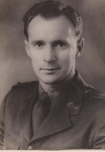 John Prior as a young medical officer.