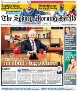 The Sydney Morning Herald's front page on Saturday.