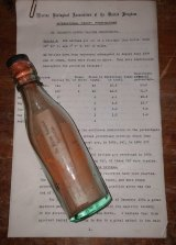 MBA still has Dr Bidder's records of the bottles he released.