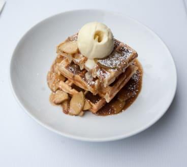 Waffles at Cream