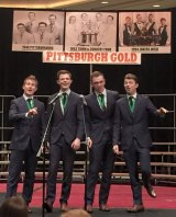 Singing up a storm... Blindside at the Barbershop Harmony Society in Pittsburgh.