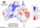 For rainfall, the east and far west were generally dry, while the north was wet.