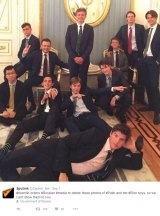Online propaganda wins attention in a crowded information sphere. Unlikely as it may seem, this picture of Eton schoolboys in the Kremlin helps confer legitimacy on the Russian government.