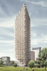 A proposed 34-storey tower in Stockholm.