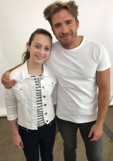 """Collector schoolgirl and """"tween influencer'' Brooke Bryan interviewed actor Hugh Sheridan as part of her contract with Nestle."""