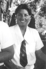 Anna Bligh in her school days in the mid-'70s.