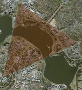 The area required for parking for an extra 124,000 cars in Canberra by 2040.