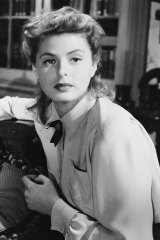 Ingrid Bergman in a scene from Alfred Hitchcock's psychological thriller, Spellbound.