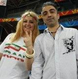 Nasrin Abek with husband Amir Darbanou.