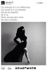 Alicia Keys' offending tweet.