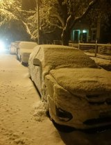 Snow blanketed the streets of Blackheath.
