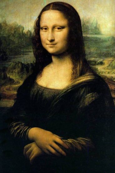 Enigmatic gaze: The Mona Lisa.