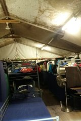 Tents at the centre.