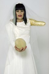 In Mike Parr's Fruit, 2005, he dressed as a bride, a gesture later copied by his brother, Tim.