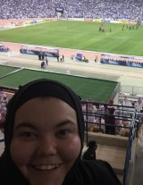 """""""The whole stadium took my breath away"""": Wanderers fan Kate Durnell."""