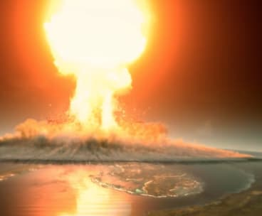 The asteroid unleashed mass devastation on the planet, including the largest Tsunami in earth's history, scientists said.