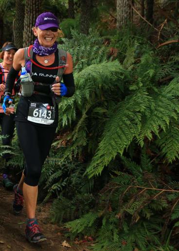 Pip Candrick: Feeling the joy of trail running.