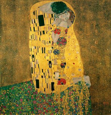 The Kiss, 1907-08 (oil on canvas) by Klimt, Gustav (1862-1918); 180x180 cm; Osterreichische Galerie Belvedere, Vienna, Austria. Print available from Thestore.com.au/klimt