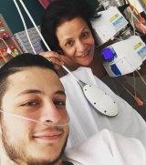 Daniel Germanos with his mother Rita.
