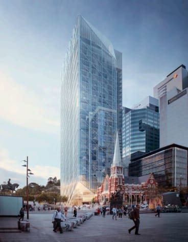 A glass tower has been proposed to replace the Suncorp Plaza building in Brisbane CBD