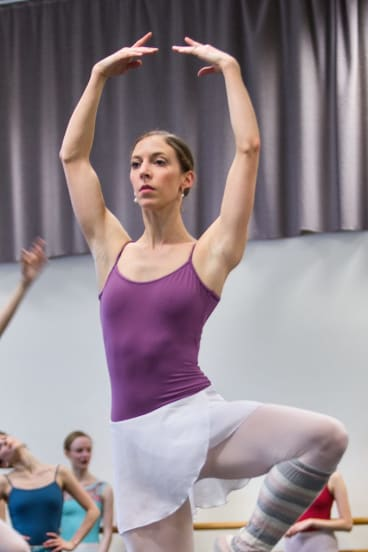 Lana Jones rehearses for <i>The Sleeping Beauty</i>.