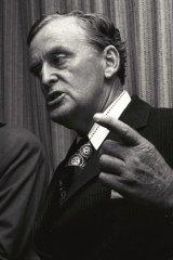 Former Queensland premier Joh Bjelke-Petersen.