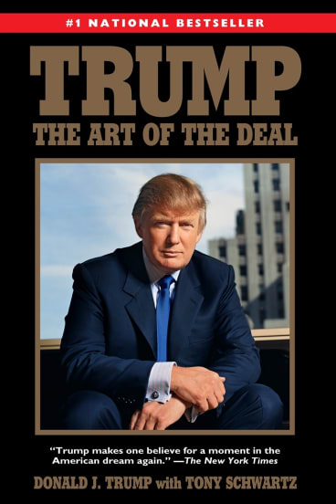"""This book cover image released by Ballantine Books shows the 2015 paperback reprint edition of  the 1987 book, """"Trump: The Art of the Deal,"""" by Donald Trump with Tony Schwartz."""