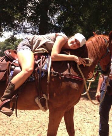 """Love my horses"": Virginia Roberts is now enjoying the simpler things in life."