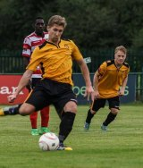 Lewis Smith in action for East Thurrock FC.