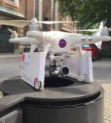 The drone used in in Saturday's flight between Germany and Poland.