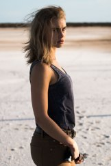 Lucy Fry plays Eve Thorogood, a tourist who seeks revenge after her family is massacred by Mick Taylor.