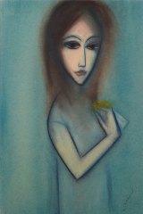 Leonard Joel sodl Robert Dickerson's 1975 painting He loves Me, He Loves Me Not for $8000.