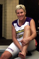 Michele Timms after playing one of her last games in the WNBA four years ago.