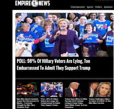 Fake news stories abounded on Facebook in the US election campaign.