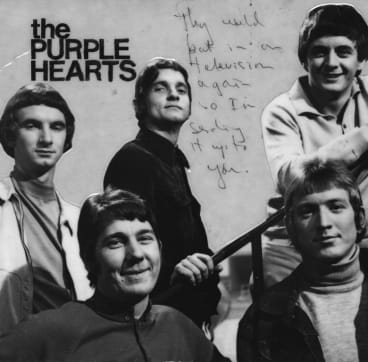 Musical journey: Tony Cahill (centre) with The Purple Hearts had a colourful music career.
