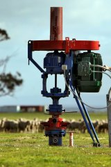 A coal seam gas exploratory well.