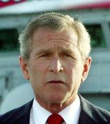 Former US president George W. Bush.