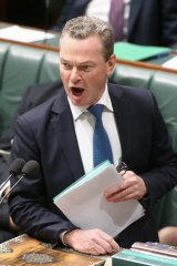 """Christopher Pyne said reports of a reshuffle were """"speculative""""."""