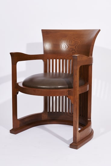 The Frank Lloyd Wright barrel chair.
