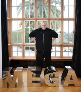 Kim Dotcom, founder of ultra-encrypted file storage site, Mega, and online streaming music service designed to bypass the record companies.