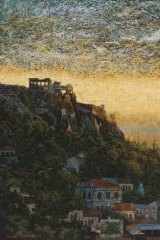 """Roger Beale, """"Athens 7pm"""" in """"Distant Voices"""" at M16 Artspace."""