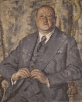 Returned:  The returned portrait of sexologist Norman Haire.