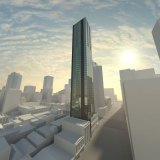 The approved design by architects Peddle Thorp for the 48-story redevelopment of the Celtic Club.