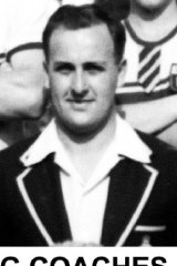 High school rowing coach Graham Pilger in 1956.