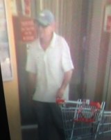 A CCTV image from Sunday, October 25, of a man believe to be Gino Stocco.