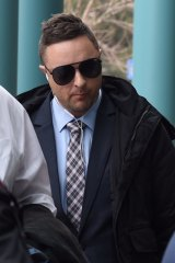 Guilty: Alex Gollan arrives at court ahead of his sentencing on Tuesday.